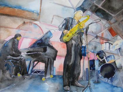 Jazz 2 - Aquarell von Frank Koebsch (c)