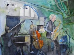 Jazz 1 (c) Aquarell von Frank Koebsch