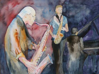 Jazz (c) Aquarell von Frank Koebsch