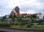 Bei der Nikolaikirche - Stadtmauer und Giebel der östlichen Altstadt
