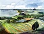 Göhrener Aussicht (c) Aquarell von Frank Koebsch