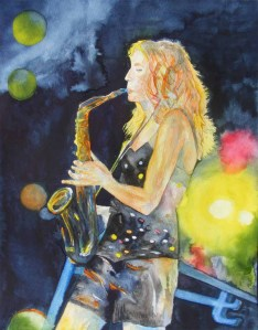 Saturday Night Fiber - Aquarell von Frank Koebsch (c)