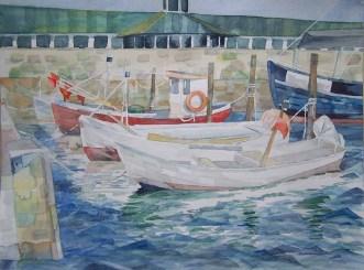 Sassnitzer Boote (1) Aquarell von FRank Koebsch (c)