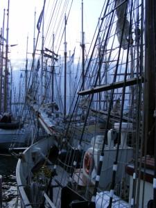 Hanse Sail - Blick durch die Spanten