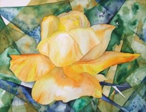 Gelbe Rose (c) Aquarell von Frank Koebsch