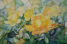 Gelbe Rosen (c) Aquarell von FRank Koebasch