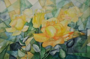Gelbe Rosen (c) Aquarell von FRank Koebsch