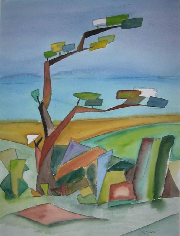 Windflüchter (c) Aquarell von Frank Koebsch
