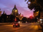 kaum Verkehr - die meisten nutzen den wunderschönen Abend