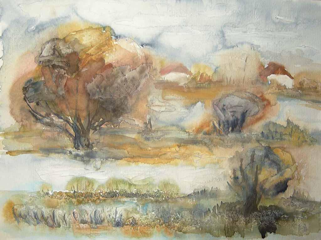 Boddenwiese im Herbst
