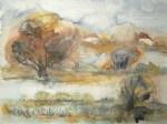 Boddenwiese im Herbst (c) Aquarell von Frank Koebsch