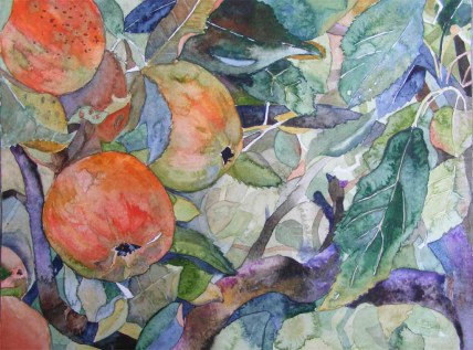 süß sauer (c) Ein Apfelbild in Aquarell von Frank Koebsch