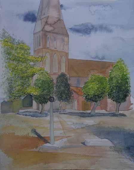 Alter Markt und Petrikirche (c) Aquarell von Frank Koebsch
