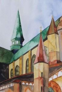 Dach von Sankt Marien