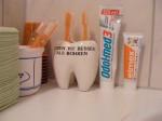 immer schön Zähne putzen