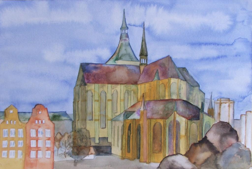 Sankt Marien vom Neuen Markt aus
