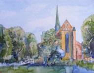 Doberaner Münster (c) Aquarell von Frank Koebsch