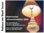 Flyer - Malerischer Jahresrückblick 2009