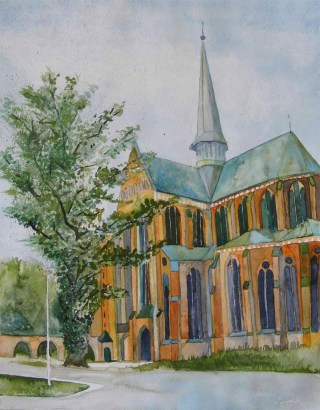 Münster in Doberan (c) Aquarell von Frank Koebsch