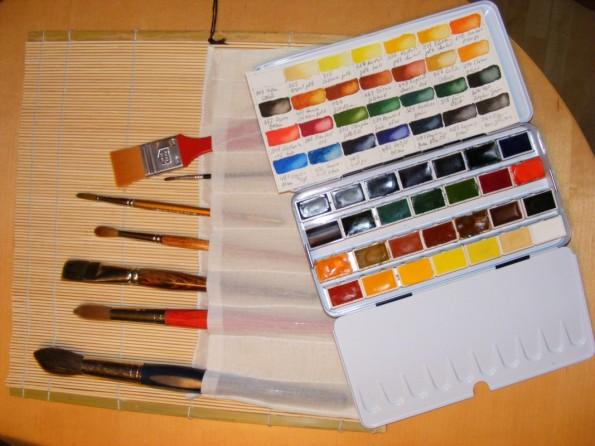 Pinsel und Farben / neue Palette