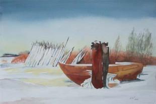 Winterpause (c) Aquarell von Frank Koebsch