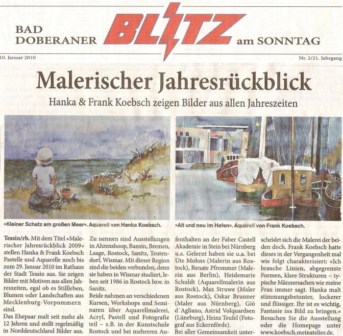 Titelseite vom Doberaner Blitz vom 10. Jan 2010