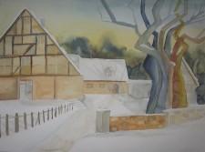 ein winter aquarell aus ahrenshoop bilder aquarelle vom meer mehr von frank koebsch. Black Bedroom Furniture Sets. Home Design Ideas