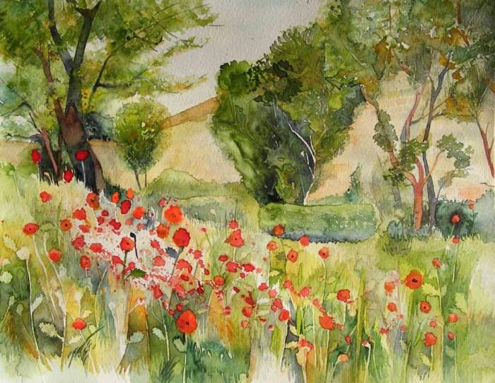 Klostergarten (c) Aquarell von Frank Koebsch