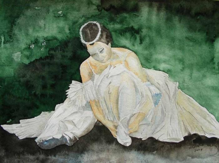Ballett - Live (c) Aquarell von Frank Koebsch