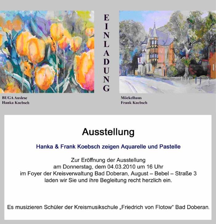 Hanka & Frank Koebsch zeigen Aquarelle und Pastelle