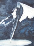 Faszination Ballett # 1 (c) Aquarell von Frank Koebsch