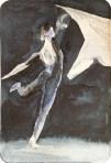 Faszination Ballett # 1 (c) Miniatur in Aquarell von FRank Koebsch