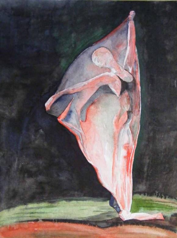 Faszination Ballett # 6 (c) Aquarell von Frank Koebsch