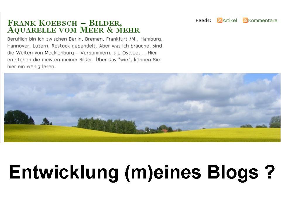 Eintwicklung eines Blogs