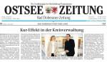 OstseeZeitung berichtet über die Ausstellung von Hanka und Frank Koebsch in der Kreisverwaltung Bad Doberan