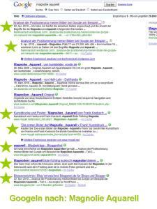 Googeln nach Magnolie Aquarell
