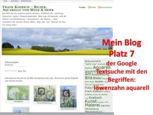 Google Textsuche Löwenzahn Aquarell frankkoebsch.wordpress.com