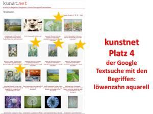 Google Textsuche Löwenzahn Aquarell kunstnet
