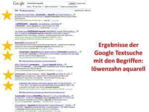 Google Textsuche Löwenzahn Aquarell