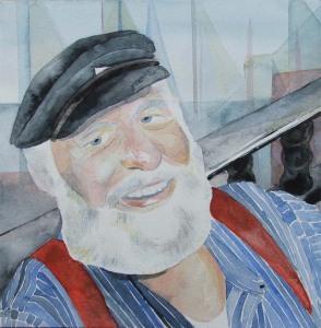 Portrait in Aquarell - Käptn Carly (c) Frank Koebsch
