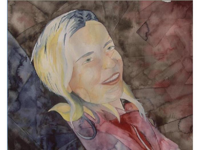 Portrait in Aquarell - Nicki