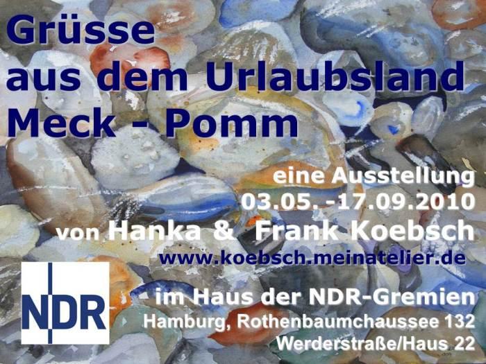 Ausstellungsankündigung für das Gremienbüro des NDR