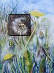 Desensibilisierung 1 (c) Löwenzahn Aquarell auf Leinwand von Frank Koebsch