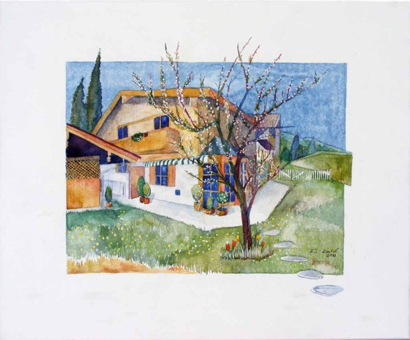Doppelhaushälfte in Rottach-Egern auf Leinwand (c) Frank Koebsch