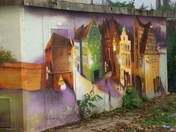 Klasse Graffities und Wandmalerei in Rostock (1)