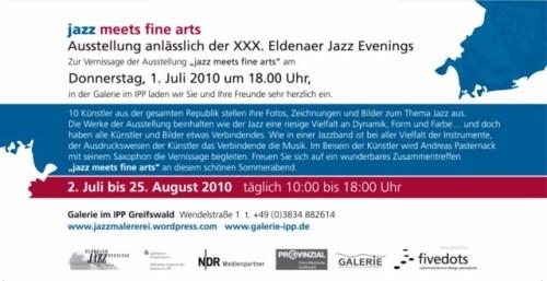 Einladung zur Ausstellung: Jazz meets Fine Arts