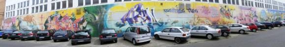 Graffiti Projekt an der Rostocker Brauerei