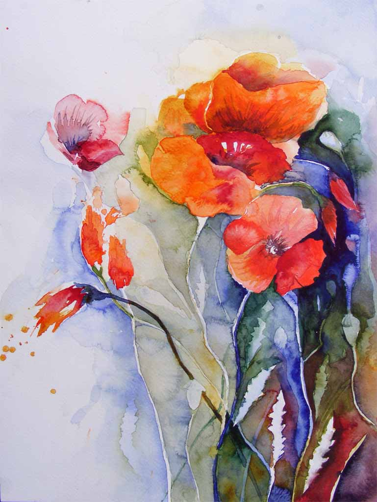 Farben des Sommers (c) Aquarell von Frank Koebsch