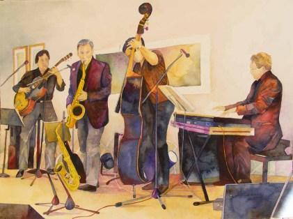 Improvisation (c) Aquarell zum Thema Jazz von FRank Koebsch
