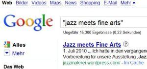 """""""Jazz meets Fine Arts"""" auf Google"""